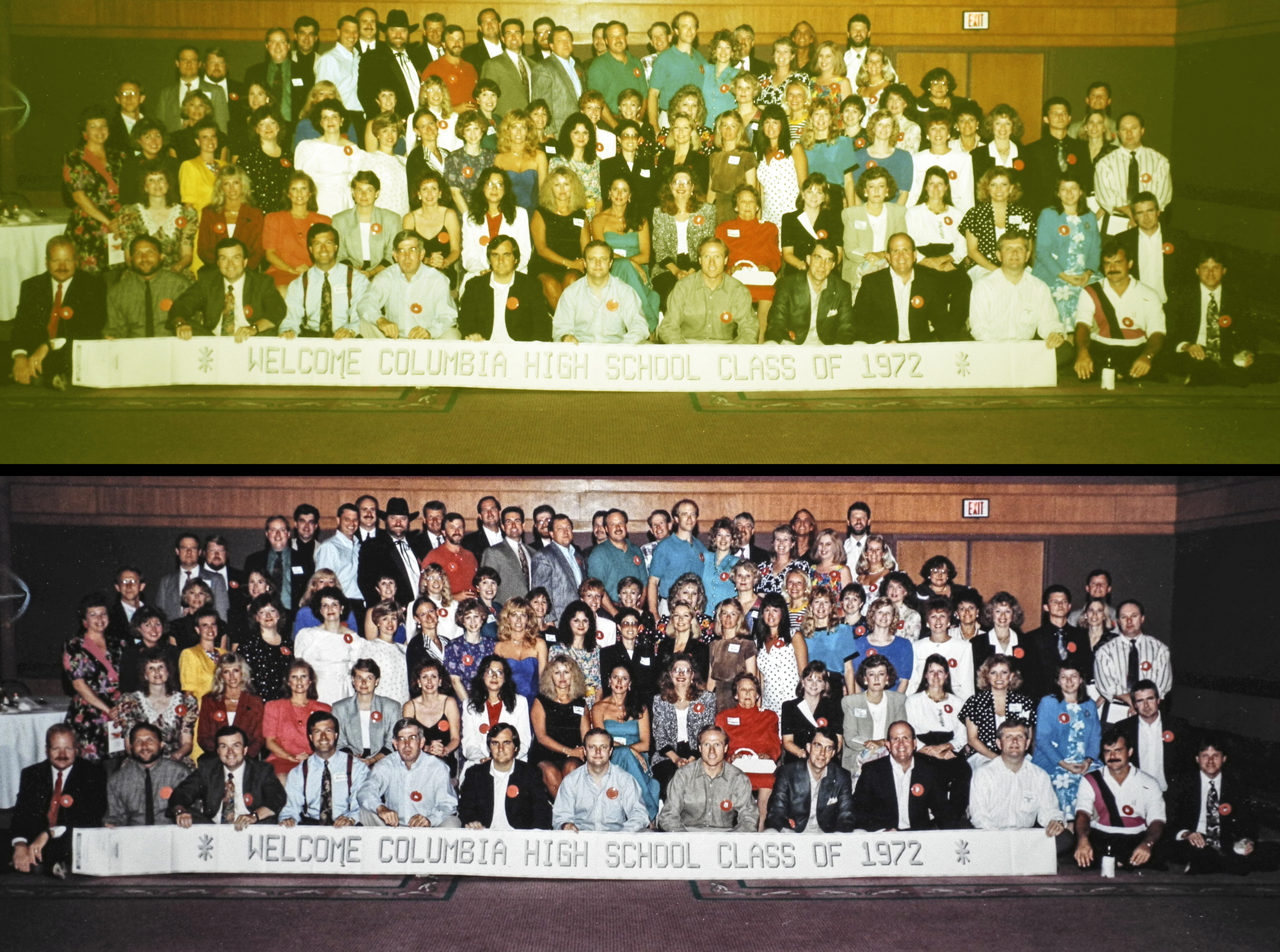 Columbia High Class of '72 Photo Restoration