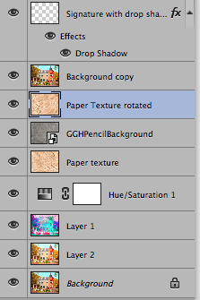 Photoshop CC Layers for New England House